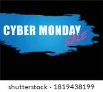 cyber monday  holiday sale... | Shutterstock .eps vector #1819438199