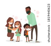 parent protecting their... | Shutterstock .eps vector #1819440623