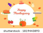 thanksgiving vector concept ...   Shutterstock .eps vector #1819443893