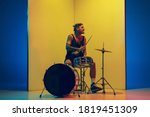 Young Musician With Drums...