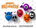 halloween balloons vector... | Shutterstock .eps vector #1819468289