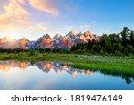 The Teton Range At Schwabacher...
