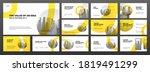 modern powerpoint presentation...   Shutterstock .eps vector #1819491299