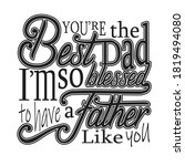 father day quotes and slogan... | Shutterstock .eps vector #1819494080