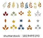 fall and autumn leaves. set of... | Shutterstock .eps vector #1819495193