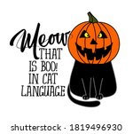meow  that is boo in cat...   Shutterstock .eps vector #1819496930