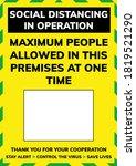 social distancing sign  ... | Shutterstock .eps vector #1819521290