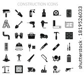 construction icons set for your ...