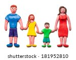 my happy family isolated on the ... | Shutterstock . vector #181952810