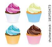 cupcake collection | Shutterstock .eps vector #181953473