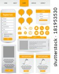 web designing element set | Shutterstock .eps vector #181953530
