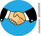 handshake vector icon.... | Shutterstock .eps vector #1819550939