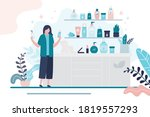 female character chooses eco... | Shutterstock .eps vector #1819557293