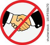 no handshake vector icon.... | Shutterstock .eps vector #1819558670