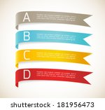 set of ribbons   Shutterstock .eps vector #181956473