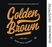 original brush script font ...   Shutterstock .eps vector #1819579733