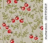 dog rose seamless vector...   Shutterstock .eps vector #1819592819