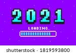 2021 pixel art banner for new... | Shutterstock .eps vector #1819593800
