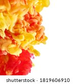 red and yellow paint splash on... | Shutterstock . vector #1819606910