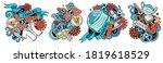 epidemic cartoon vector doodle...   Shutterstock .eps vector #1819618529