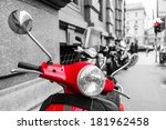 red scooter in the city of... | Shutterstock . vector #181962458