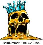 Crowned King Skull Symbol Of...