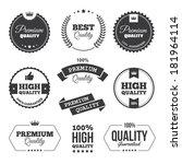 set of black premium quality... | Shutterstock .eps vector #181964114