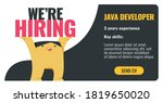 we are hiring java developers....   Shutterstock .eps vector #1819650020