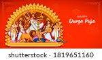 illustration of goddess durga... | Shutterstock .eps vector #1819651160