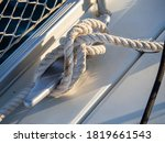 Detail Of Ship Rope Tied On...