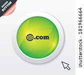 domain com sign icon. top level ...