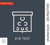 eye test thin line vector icon. ...   Shutterstock .eps vector #1819667540