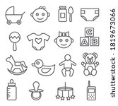baby line icons set on white... | Shutterstock .eps vector #1819673066