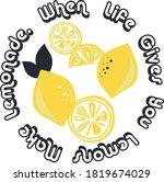 lemon   lemonade circle slogan...   Shutterstock .eps vector #1819674029