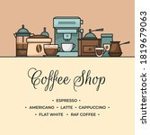 coffee banner. cup and coffee... | Shutterstock .eps vector #1819679063