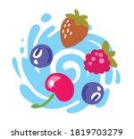 different bright berries... | Shutterstock .eps vector #1819703279