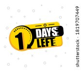 one day to go label  emblem on... | Shutterstock .eps vector #1819707449
