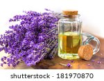lavender oil for spa on a... | Shutterstock . vector #181970870