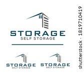 sarver storage logo vector  ...   Shutterstock .eps vector #1819710419
