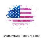 grunge splash flag of united... | Shutterstock .eps vector #1819711580