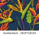 seamless wallpaper pattern....   Shutterstock .eps vector #1819718153