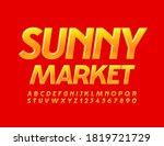 vector bright logo sunny market.... | Shutterstock .eps vector #1819721729
