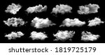 Set Of White Clouds Isolated On ...