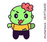 isolated cute zombie kawaii....   Shutterstock .eps vector #1819726430