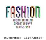 bright font  alphabet from...   Shutterstock .eps vector #1819728689
