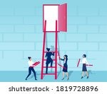 vector of businesswomen working ... | Shutterstock .eps vector #1819728896