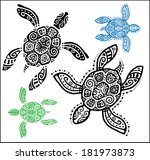 decorative graphic turtle ...