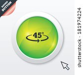 angle 45 degrees sign icon....