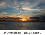 Blue Sky And Orange Sunset Ove...