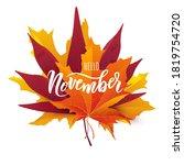 november text. hand lettering... | Shutterstock .eps vector #1819754720
